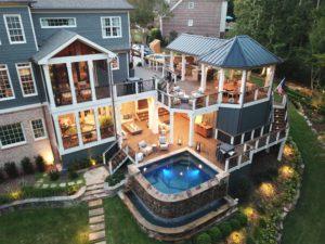 Deck Building - www.elysianhomeimprovement.com | Cement Deck | Wood Deck | Concrete Deck | Brick Paver Deck